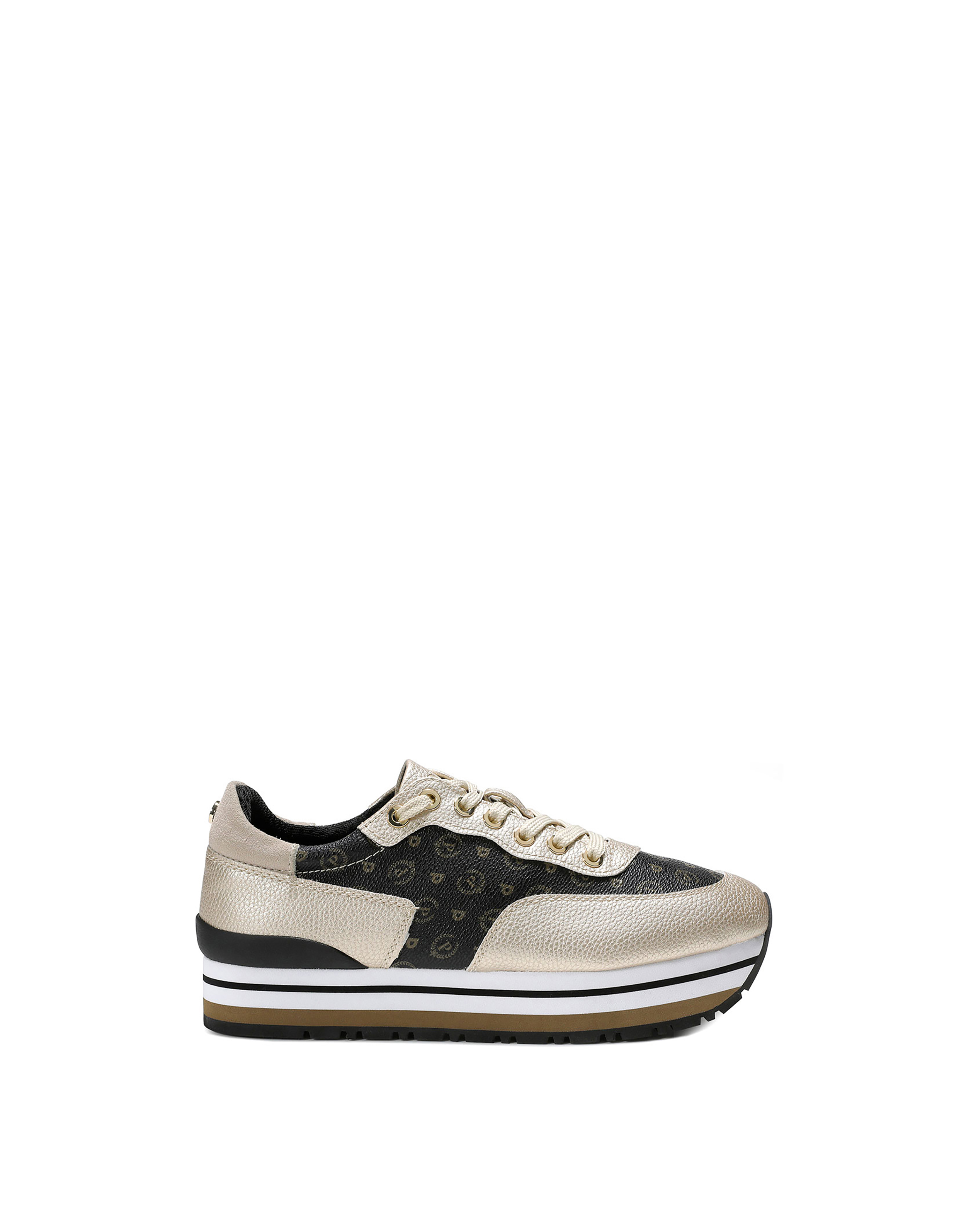 Sneakers Blackplatinumivory Woman Pollini Online Boutique