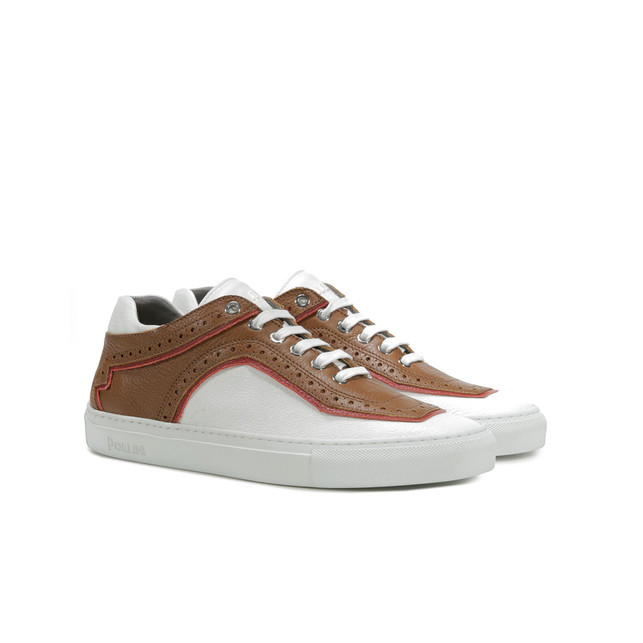 Sneakers Marrone/bianco/rosso