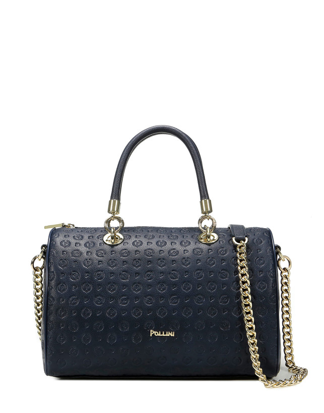 Boston bag Blue blue Woman FW18 - Pollini Online Boutique ef908966a2148