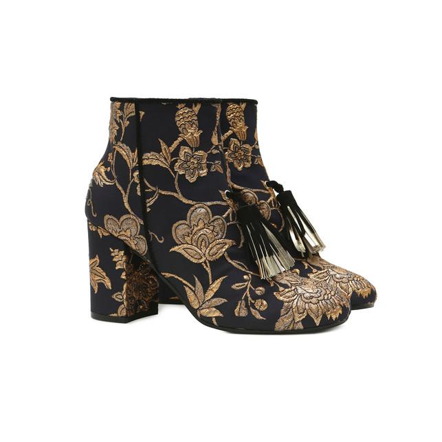 Ankle boots Black-gold/black/platinum