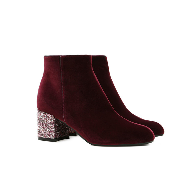 Ankle boots Burgundy/magnolia