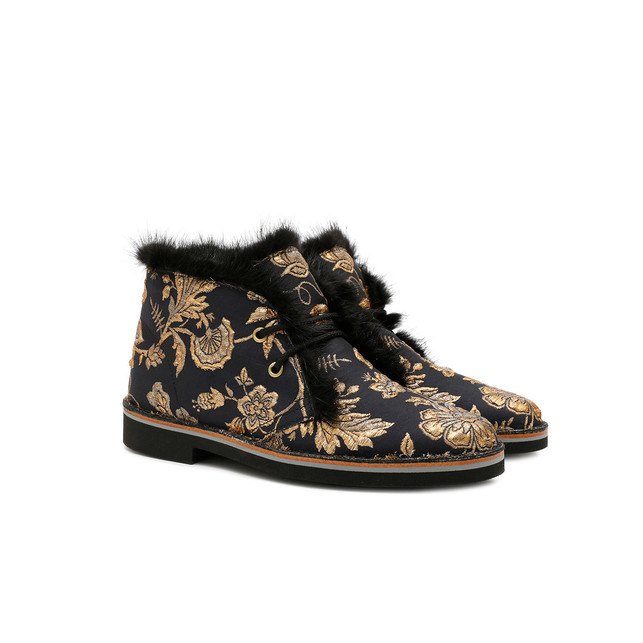 Desert boots Black-gold/black
