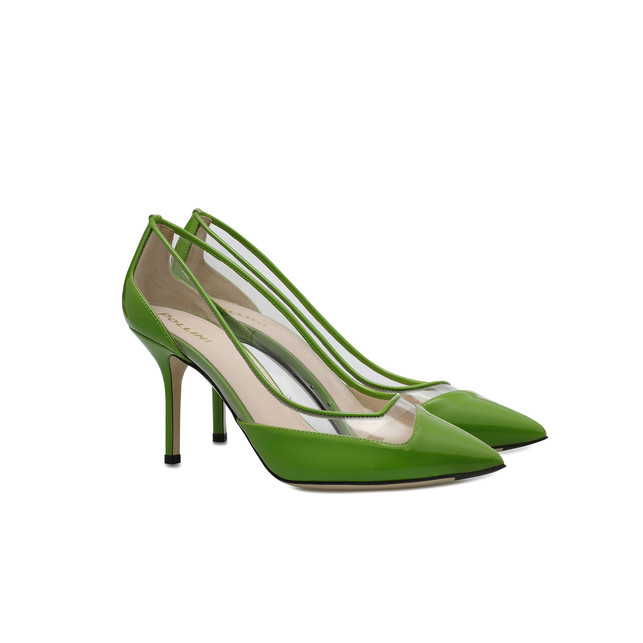 e7ddb15112b2 Pumps Transparent light green Woman SS19 - Pollini Online Boutique