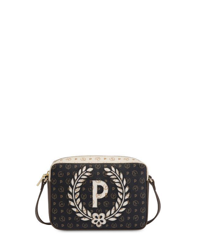 Shoulder bag Ivory/black/bronze
