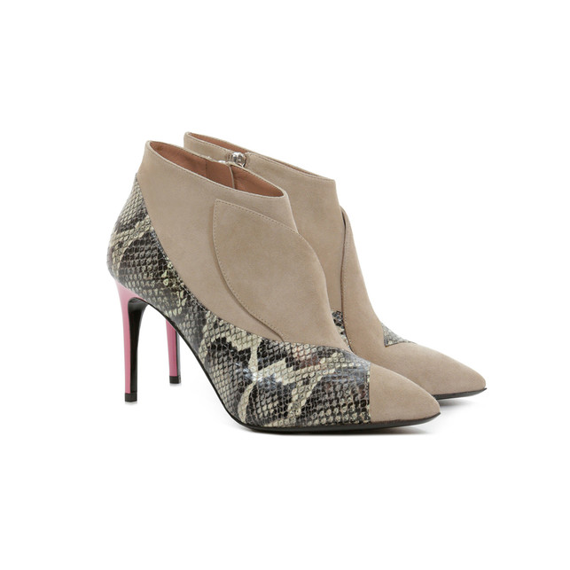Ankle boots Rock/beige/pink