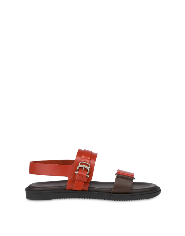Sandals Orange/dark brown