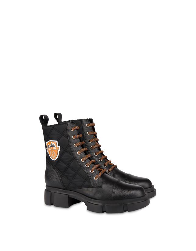 Aspen Patch Boots calfskin combat boots Photo 2