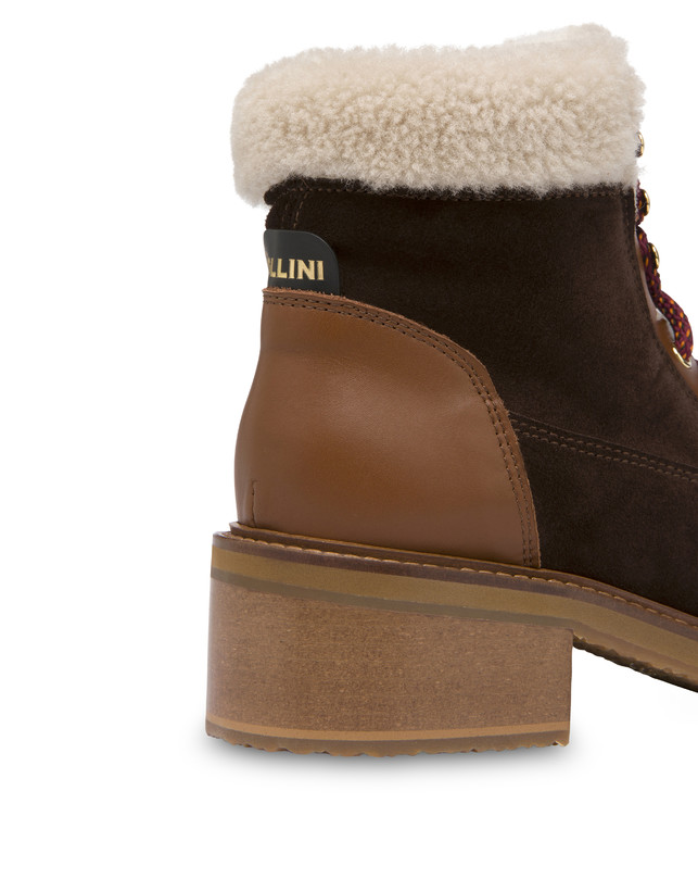 Frost Line suede leather and calfskin ankle boots Photo 4
