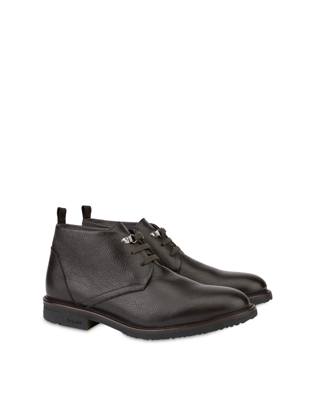 Classic Rubber calfskin ankle boots Photo 2