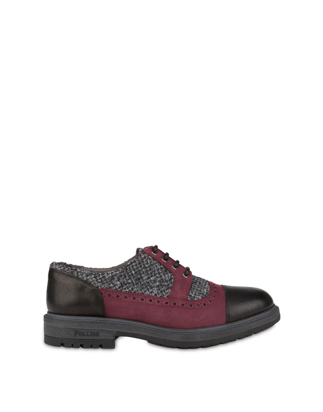 Derby in fabric, nubuck and kidskin Photo 1