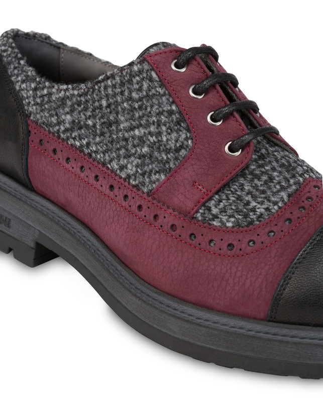 Derby in fabric, nubuck and kidskin Photo 5