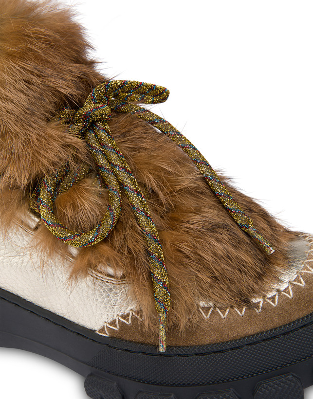 Winter Sound laminated drummed calfskin desert boot Photo 4