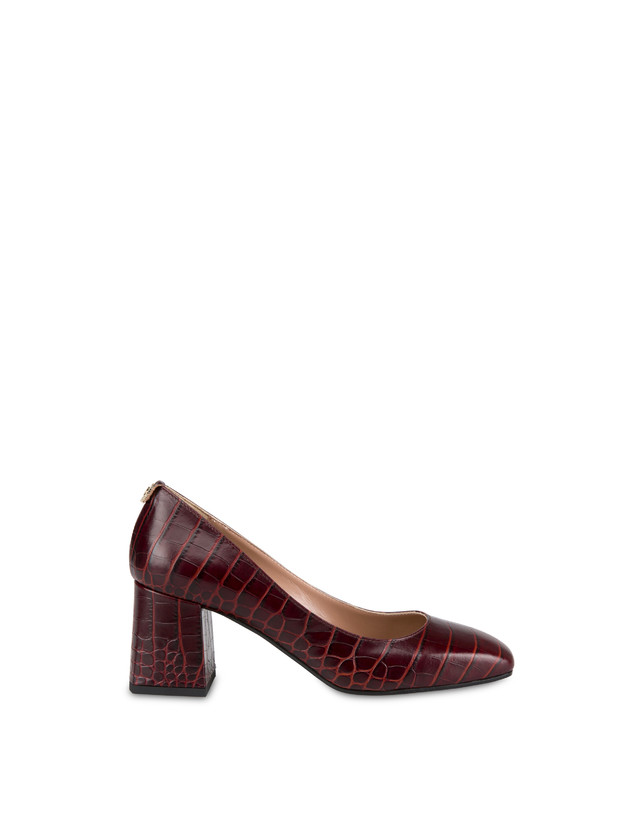 Sloane Square croc print calfskin décolleté Photo 1