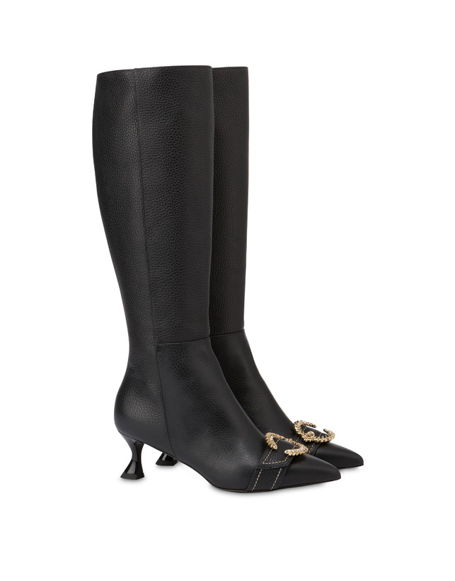 Breakfast At Tiffany's calfskin boots Photo 2