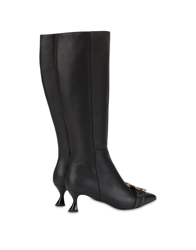 Breakfast At Tiffany's calfskin boots Photo 3