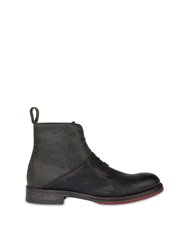 Mezzadro combat boots in calfskin and felt Photo 1