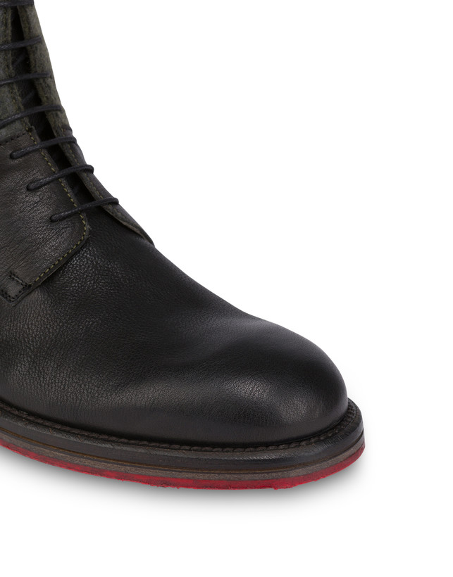 Mezzadro combat boots in calfskin and felt Photo 5