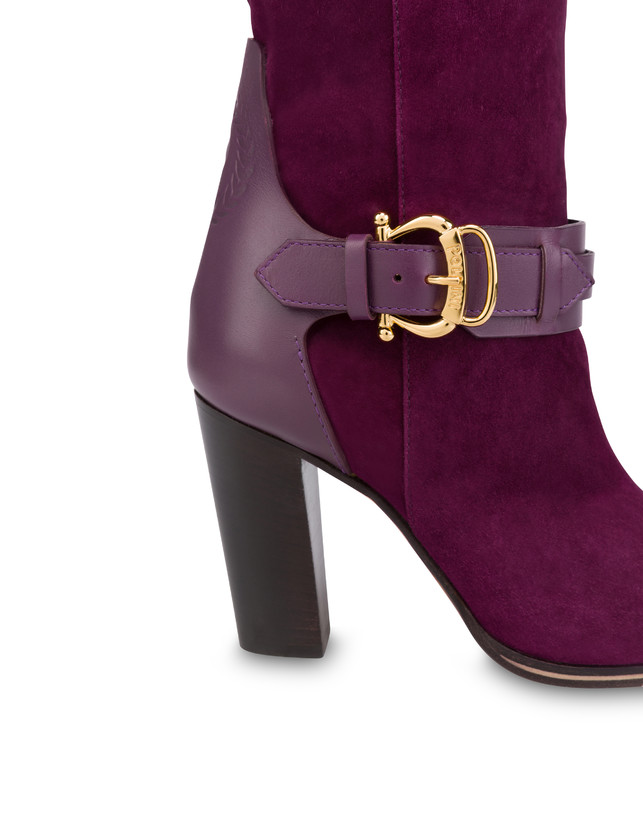 Buckle Notes suede knight boots Photo 4
