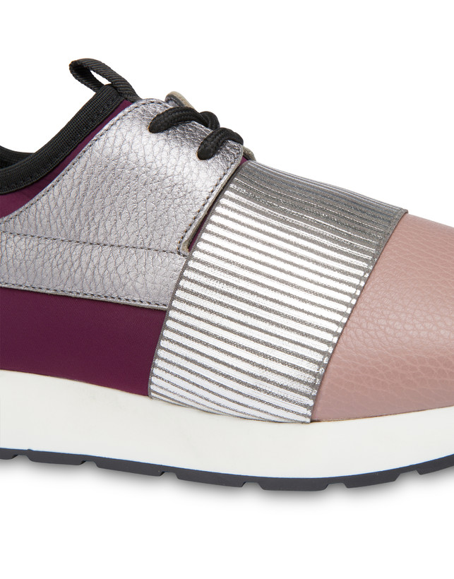 Shiny Elastic Run slip-on sneakers Photo 4