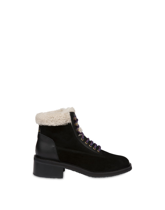 Frost Line suede leather and calfskin ankle boots Photo 1