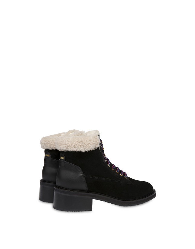 Frost Line suede leather and calfskin ankle boots Photo 3