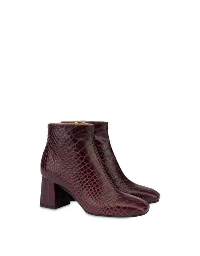Sloane Square calfskin croc-print ankle boots Photo 2