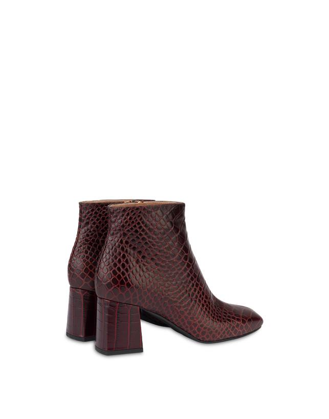 Sloane Square calfskin croc-print ankle boots Photo 3