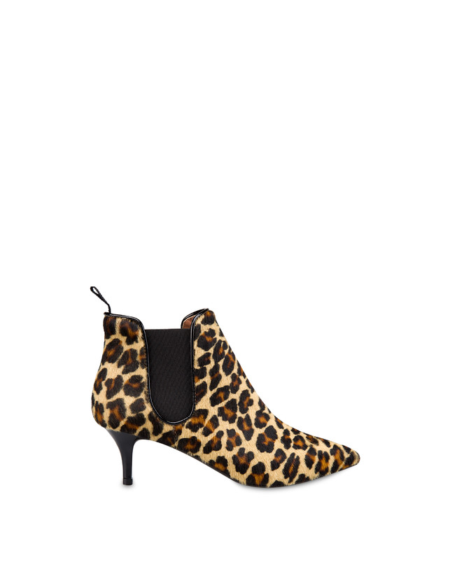 Snow Leopard spotted pony ankle boots Photo 1