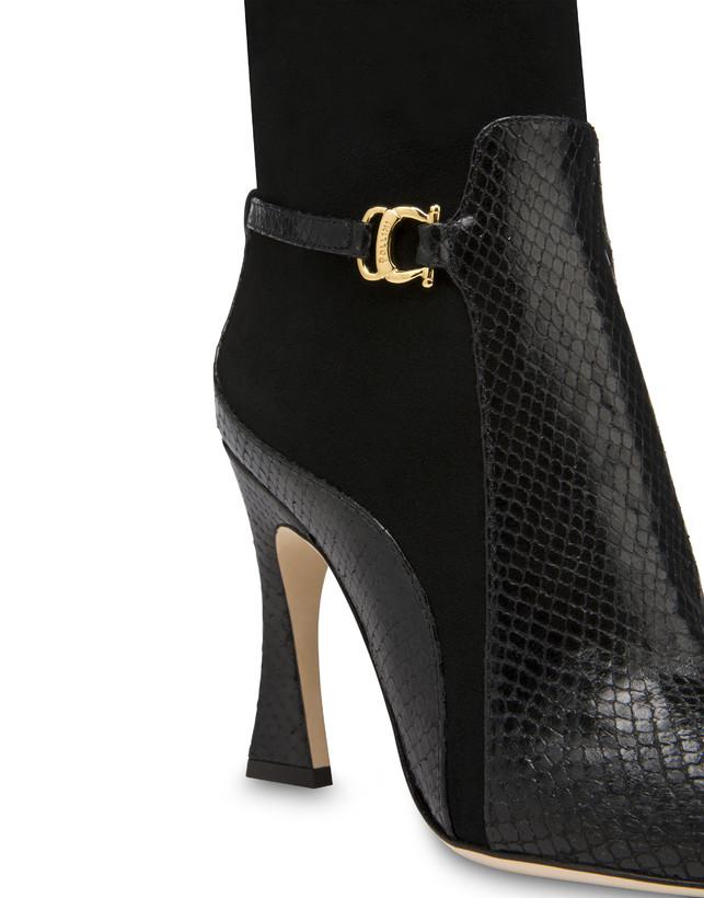 Stivali in crosta e pelle stampa pitone Arco Photo 4