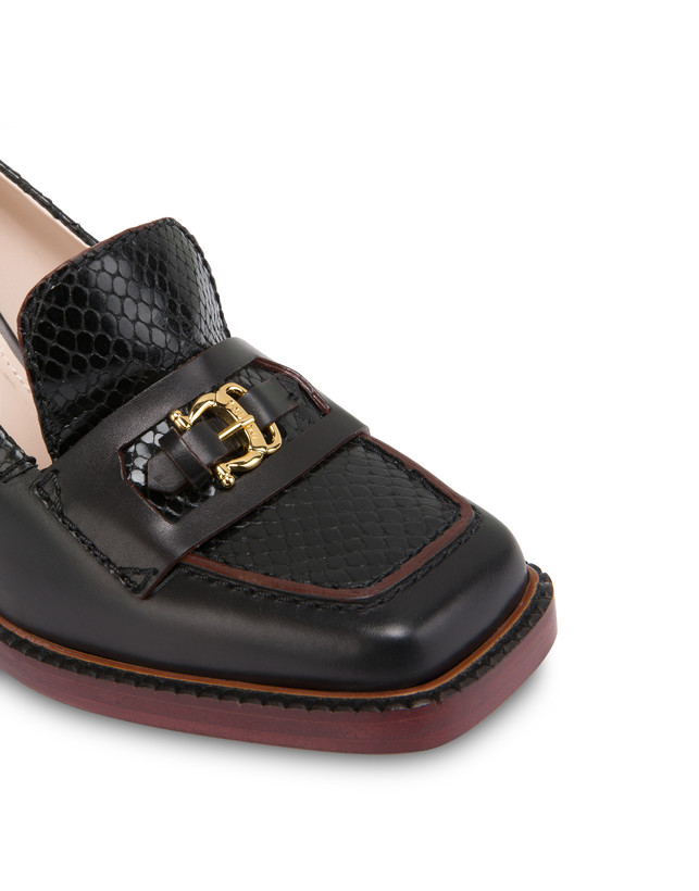 Buckle Notes calfskin moccasins Photo 4