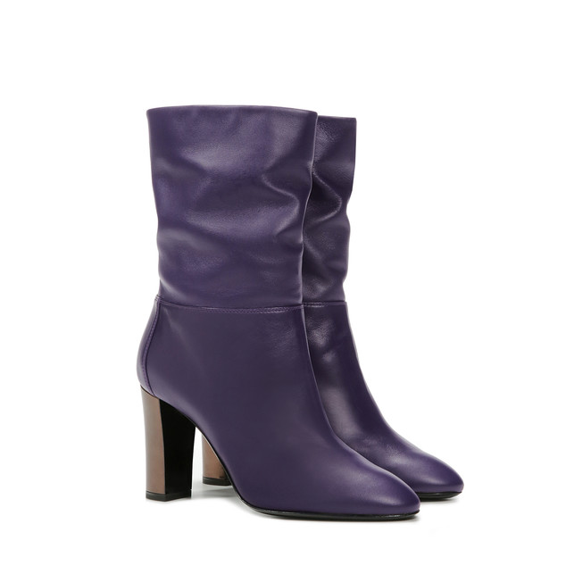 Ankle boots Violet/chocolate