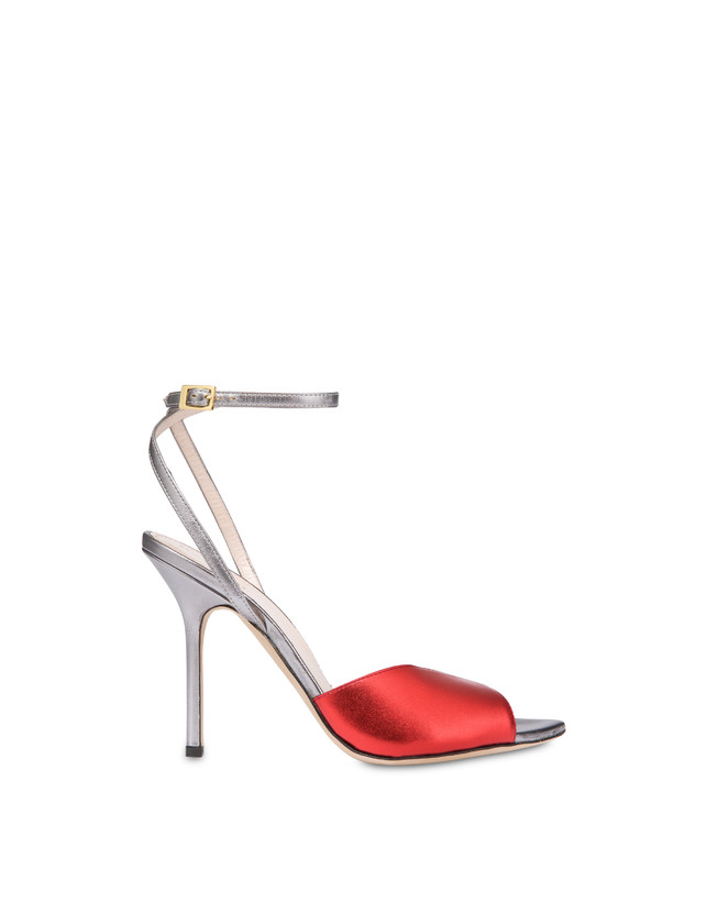 Tricolor laminated nappa leather Evening Sandals Photo 1