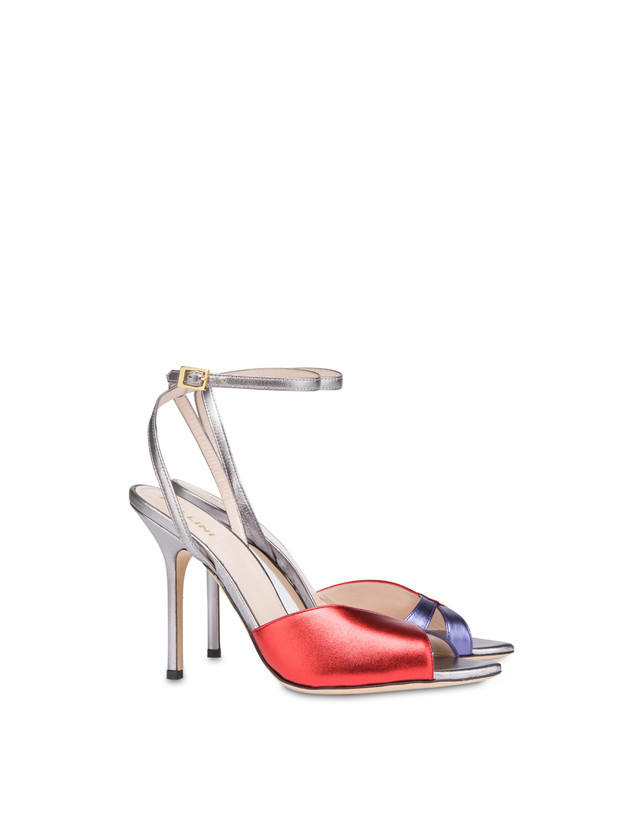 Tricolor laminated nappa leather Evening Sandals Photo 2