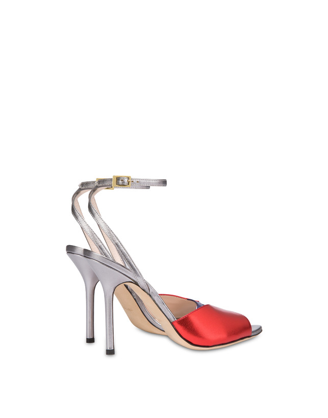 Tricolor laminated nappa leather Evening Sandals Photo 3