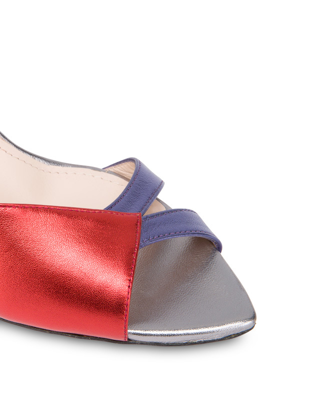 Tricolor laminated nappa leather Evening Sandals Photo 4