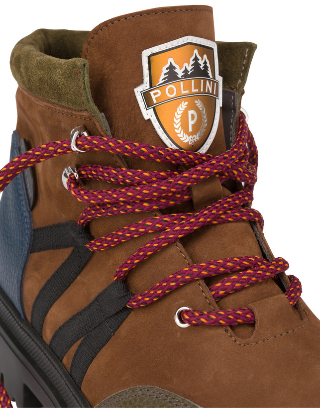 Mountaineer calfskin and nubuck combat boots Photo 6