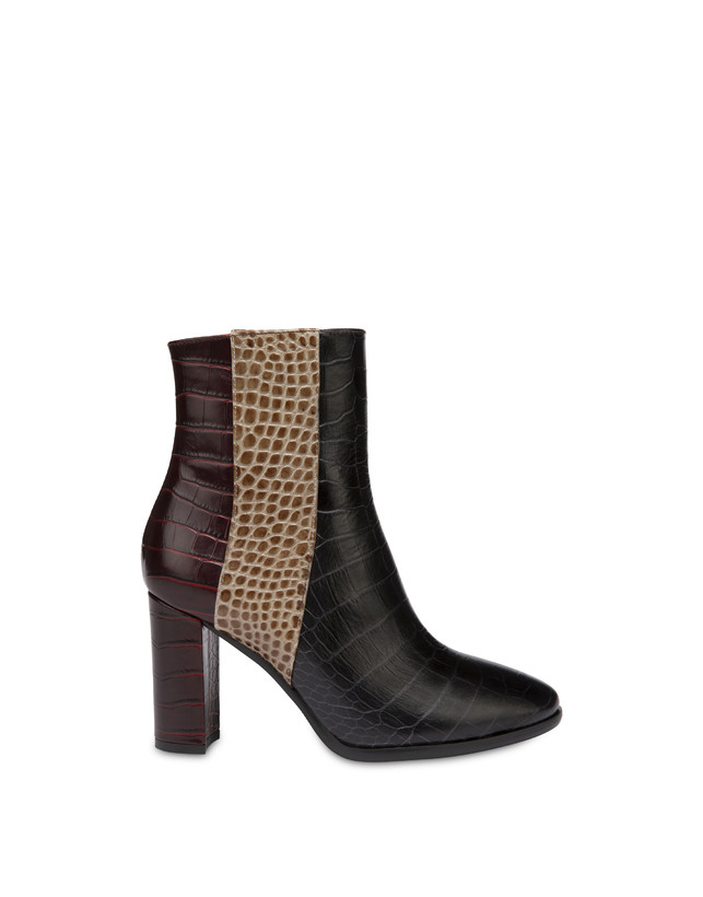 The Woman In Boots crocodile print calfskin ankle boots Photo 1