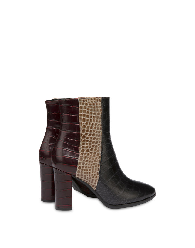 The Woman In Boots crocodile print calfskin ankle boots Photo 3