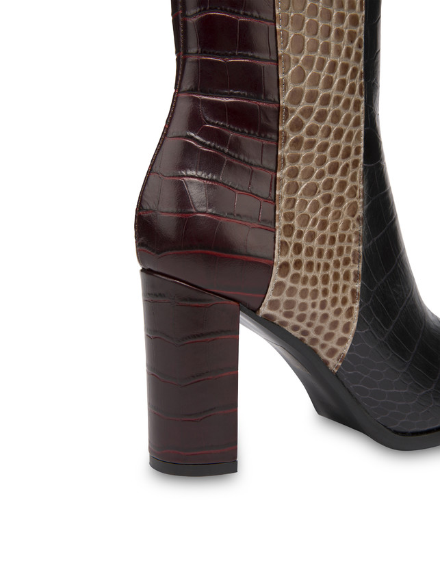 The Woman In Boots crocodile print calfskin ankle boots Photo 5