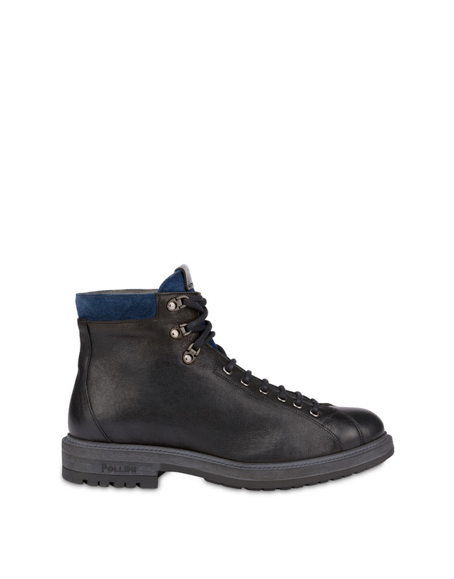 Climber combat boots in crust leather and kidskin Photo 1