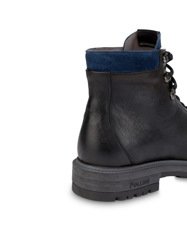 Climber combat boots in crust leather and kidskin Photo 5