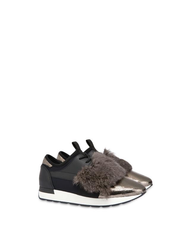 Sneakers slip-on Fur Elastic Run Photo 2