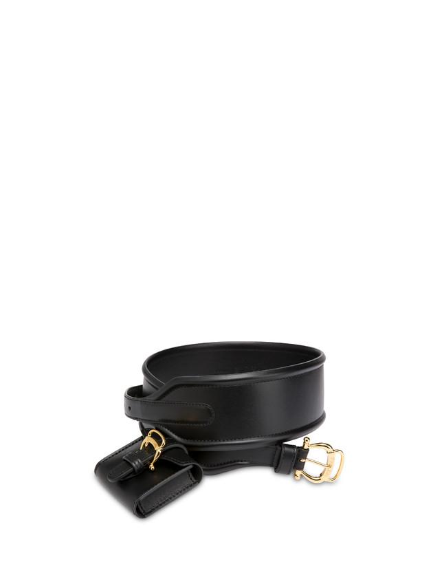 High-waisted belt in calfskin with mini bag Photo 2