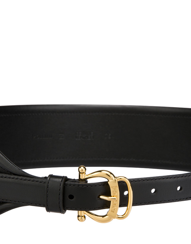 High-waisted belt in calfskin with mini bag Photo 4