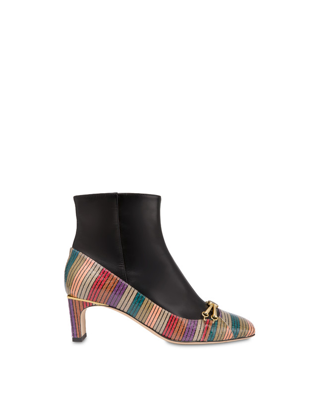 Ankle boots in elaphe and Giulietta Clamp calfskin Photo 1