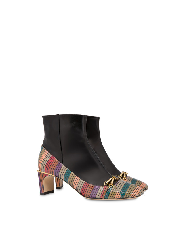Ankle boots in elaphe and Giulietta Clamp calfskin Photo 2