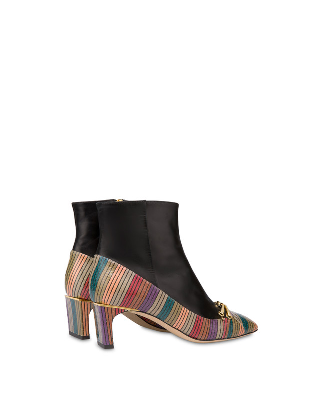 Ankle boots in elaphe and Giulietta Clamp calfskin Photo 3