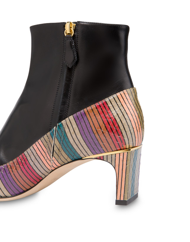 Ankle boots in elaphe and Giulietta Clamp calfskin Photo 5