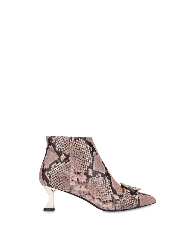 Breakfast At Tiffany's python print leather ankle boots Photo 1