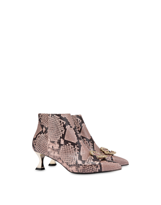 Breakfast At Tiffany's python print leather ankle boots Photo 2